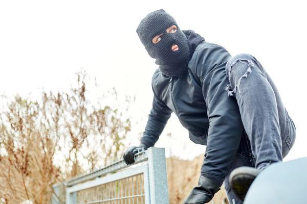 Burglar scaling fence